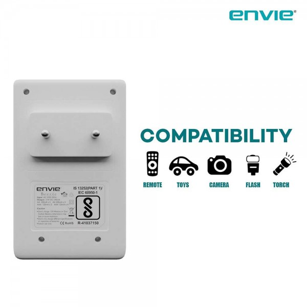 Envie Charger for AA and AAA Rechargeable Batteries
