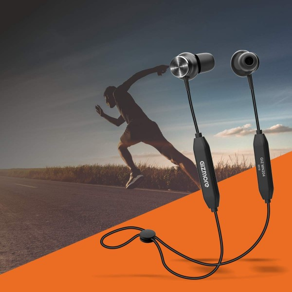 Gizmore GizMN204 - Bluetooth (V 5.0) Neckband With Magnetic Earbuds For Longer Battery Life