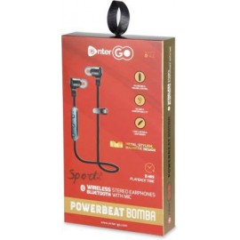 EnterGo - Powerbeat Bomba - Bluetooth Stereo Earphone/Neckband with Up to 8 Hours of Playback Time