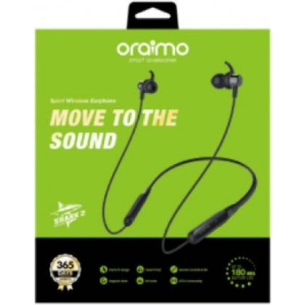 Oraimo Shark 2 (E59D) Sports Wirerless Earphone with Magnetic Buds and Deep Bass