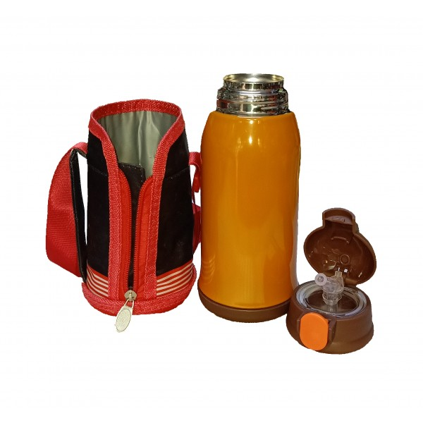 Colorful, Vacuum Insulated Stainless Steel Sipper and Vacuum Flask for Kids - Up to 8 Hours Hot and Cold