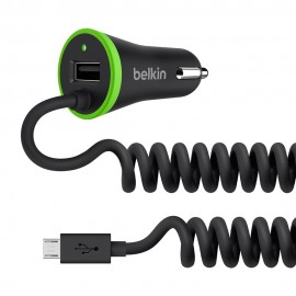 17W (3.4A) Ultra Fast Belkin Boost Up USB Car Charger For Smartphones and Tablets