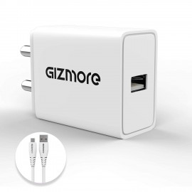 Gizmore GIZPA606 - 3.0 A - Quick Charge Micro USB Charger set (18W) for Smart Phones (6 months warranty)