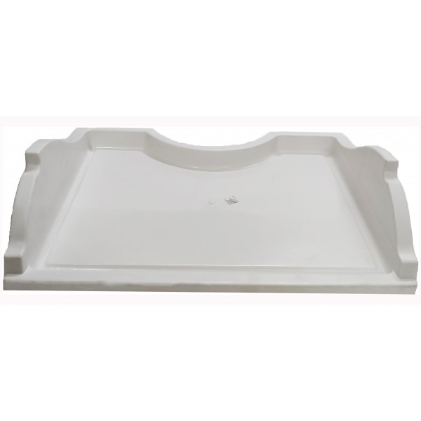 3550JF1006 - White Plastic Milk/Chiller Tray Compatible with LG Double Door Refrigerator Models (270 - 310 ltr)