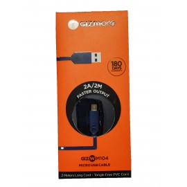 Gizmore 2A Fast Charging micro USB Cable (2 meters)