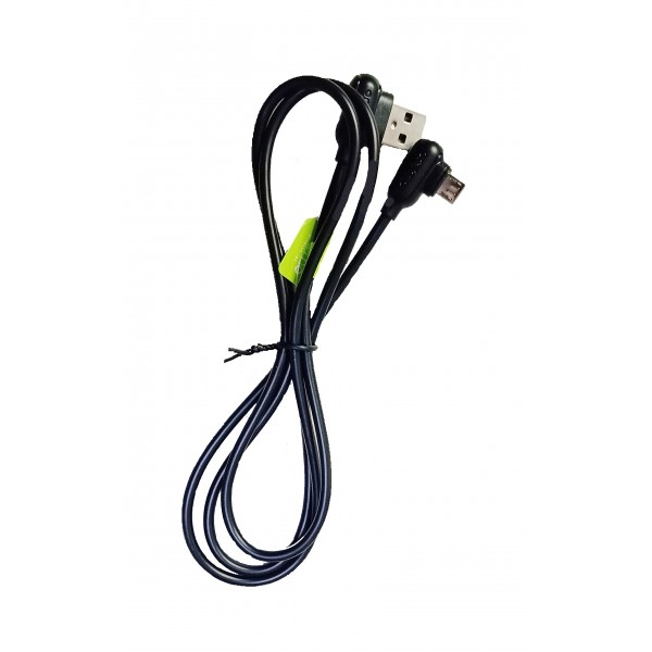Oraimo 2.1 A Fast Charging (90 Degree Angle) Micro USB Data Cable - For Hassle free Gaming on Mobile Phones