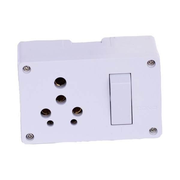 Cona Switch Socket Combo (with Junction box) for Home and Office Fittings