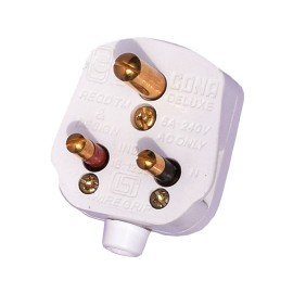 Cona 6A - 3 Pin Top/Plug for Small Home, Kitchen and Office Appliances