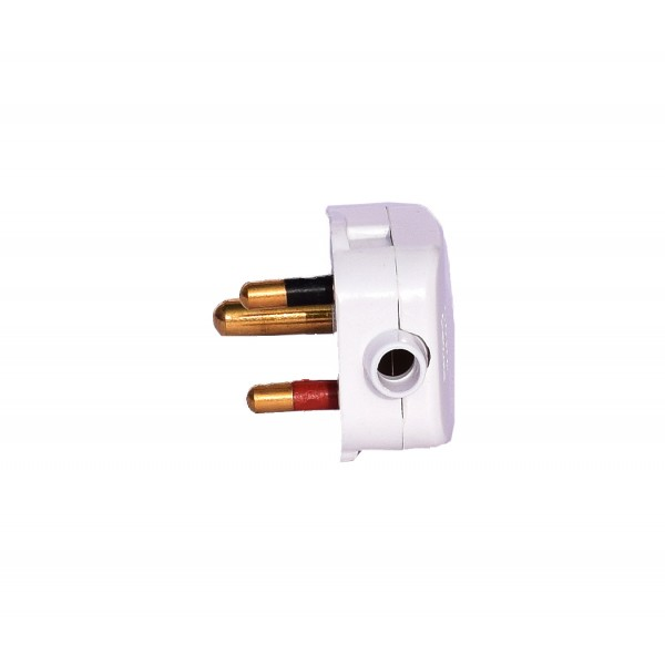 Cona 3 Pin Top/Plug 6A - For Small Home, Kitchen and Office Appliances