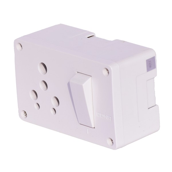 6A / 16A Cona Switch Socket Combine box for Home and Office Fittings