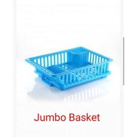 3 in 1 Jumbo Drainer Basket/Multipurpose Basket With Tray for Kitchen and Office Use