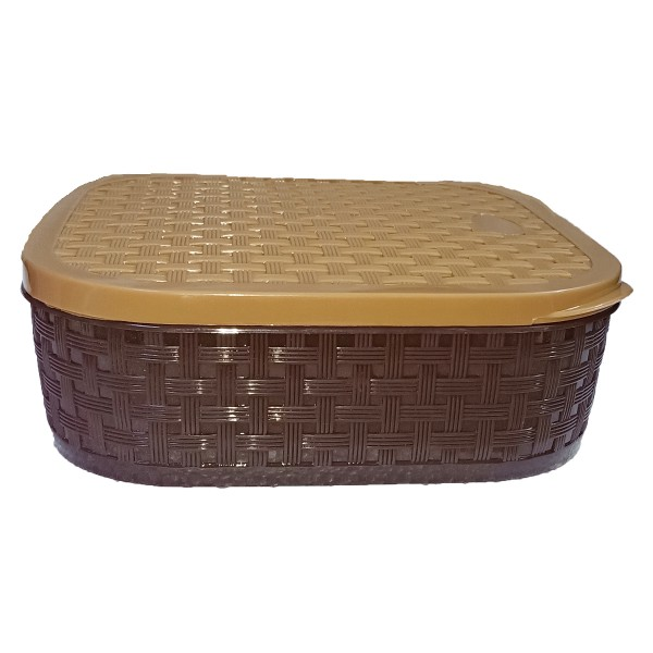 Woven, Multipurpose Spice/Masala, Dry Fruits and Rangoli Colors Storage Box for Home and Kitchen Use