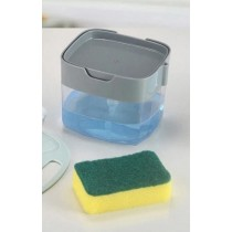 Liquid Soap Pump Dispenser with Sponge for Kitchen