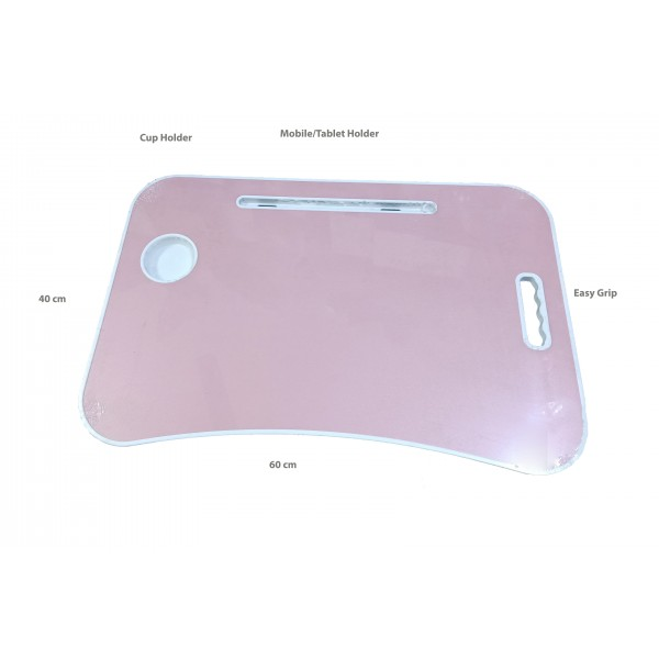 Foldable Laptop Table with Mobile/Tablet and Cup Holder - multiple colors