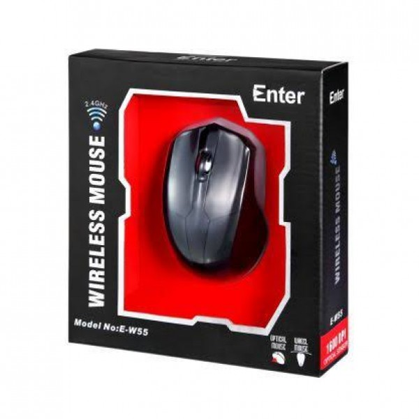 Enter-Go Voyager - 1600 DPI Optical Sensor Wireless Mouse for Computers and Laptops