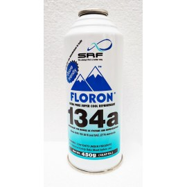 R-134a Refrigerant Gas Can (450 gm) for Refrigerators and Car AC Systems by SRF (Floron)