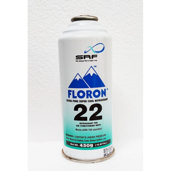 Combo - SRF Floron R 22 And R134a Refill Gas Can (450 gm + 450 gm)
