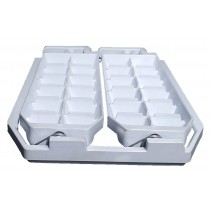 Twister Ice Cube Tray for Refrigerators